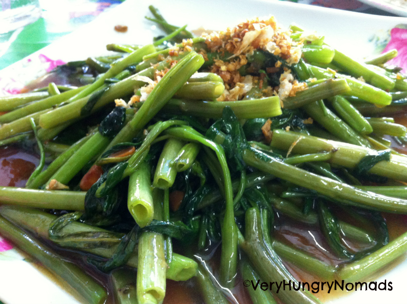 thai dishes morning glory
